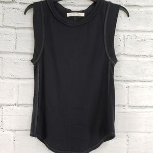 Free people go to tank black tank top size small